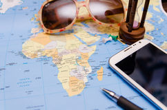 Close up world map Stock Images