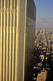 Close-up of World Trade Center, Wall Street, New York City, NY Royalty Free Stock Image