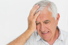Close-up of a worried senior man Royalty Free Stock Images