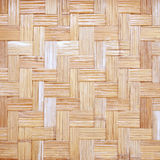 Close up woven bamboo pattern background Royalty Free Stock Images