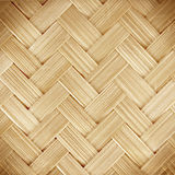 Close up woven bamboo pattern background Stock Images