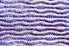 Close up woven bamboo pattern handbags and basketry passing on the community indentity Royalty Free Stock Images
