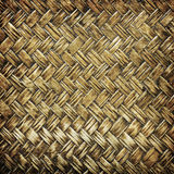 Close up woven bamboo pattern, Weaving pattern background Stock Photography