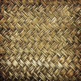 Close up woven bamboo pattern, Weaving pattern background Stock Photography