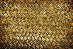 Close up woven bamboo pattern, Weaving pattern background Stock Photo