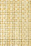 Close up of woven palm leaves mat stock photo