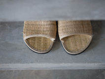 Close up woven slippers Royalty Free Stock Photo