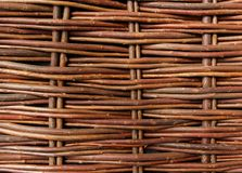 Close Up Of Woven Willow Fence Royalty Free Stock Photos
