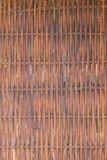 Close-up of a woven wooden wall Stock Photo