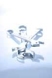 Close-up of wrenches on white background Royalty Free Stock Photography
