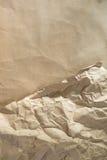 Close up of wrinkle brown bag texture Stock Photos