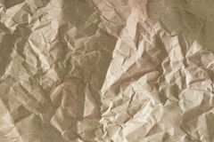 Close up of wrinkle brown bag texture Royalty Free Stock Images