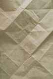 Close up of wrinkle brown bag texture Stock Images