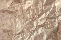 Close up of wrinkle brown bag texture Stock Photography