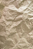 Close up of wrinkle brown bag texture Royalty Free Stock Image