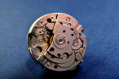 Close up of wrist watch mechanism. Technology Theme Royalty Free Stock Photos