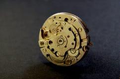 Close up of wrist watch mechanism. Technology Theme Royalty Free Stock Photo
