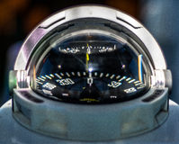 Close up on yacht compass Stock Image