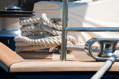 Close up of Yacht Rope Royalty Free Stock Image