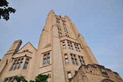 Close-up of Yale University Sheffield Scientific School Building Ornate Victorian Tower Stock Photography