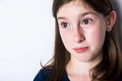 Close-up of a 10 year old girl Stock Photography