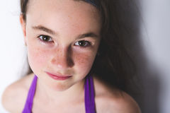 Close-up of a 10 year old girl Royalty Free Stock Image