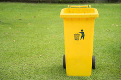 Close up of yellow bins Stock Images