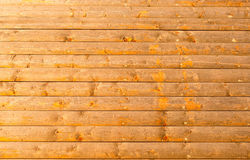 Close up of yellow blockhouse wall background Stock Photo