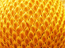 Close-up yellow fabric textile texture Royalty Free Stock Photography