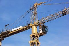 Close Up of Yellow High Hift heavy Duty Crane Royalty Free Stock Photos