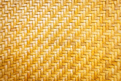 Close up yellow leather weave pattern texture Royalty Free Stock Photos