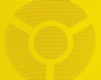 Close Up of Yellow Metal Grid Texture Background Stock Photo
