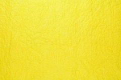 Close up of yellow microfiber cleaning towel Stock Image