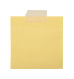 Close up of a yellow note paper stock image