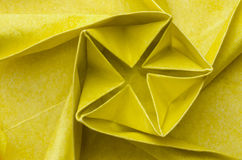 Close-up of yellow paper flower Royalty Free Stock Photography