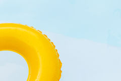 Close up yellow ring floating. Royalty Free Stock Photos