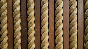 Close up yellow rough rope for texture Backgroud Royalty Free Stock Photography