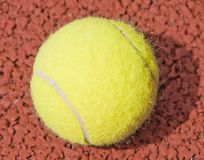 Close-up of yellow tennis ball Stock Photography