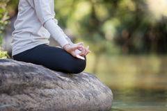 Close up of yoga meditating Royalty Free Stock Photo