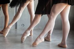 Close-up of a young ballet stock images