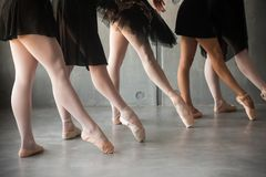 Close-up of a young ballet stock photography