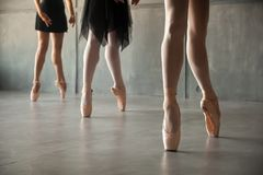 Close-up of a young ballet stock image