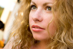 Close-up of young beautiful healthy woman Stock Photo
