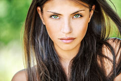 Close up of young beautiful woman Royalty Free Stock Image