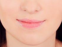Close up of young beautiful woman Stock Photos