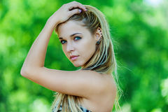 Close up of young beautiful woman Royalty Free Stock Photo