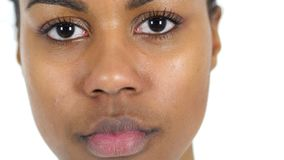 Close Up of Young Black Woman royalty free stock photo