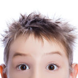 Close-up of young boy looking for you Stock Photo