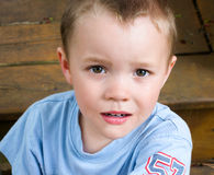 Close Up of A Young Boys Face Royalty Free Stock Photos