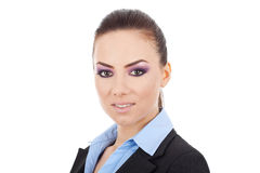 Close up of a young business woman Royalty Free Stock Image